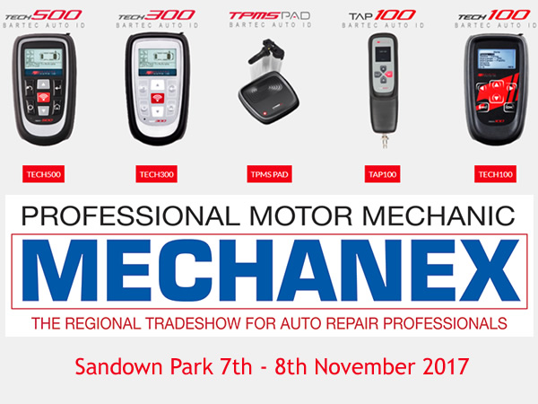 Bartec Auto ID au Stand 22 au cours de Mechanex Sandown Park