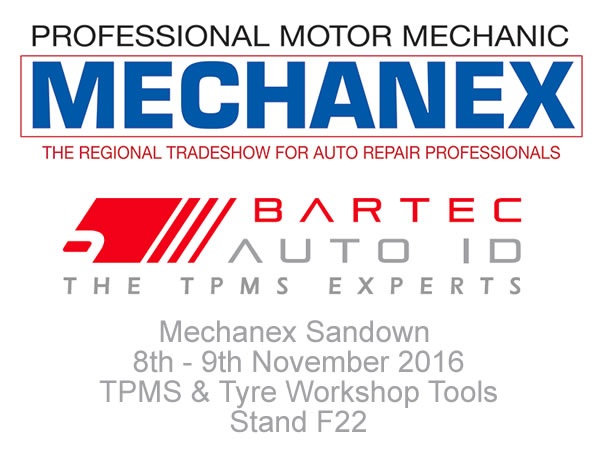 Bartec Auto ID Ltd Expose au Mechanex Sandown le 8 et 9 Novembre 2016